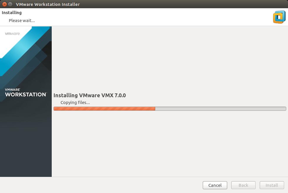 Linux Ubuntu 14.10 Utopic VMware Workstation 11 Installation - Installing