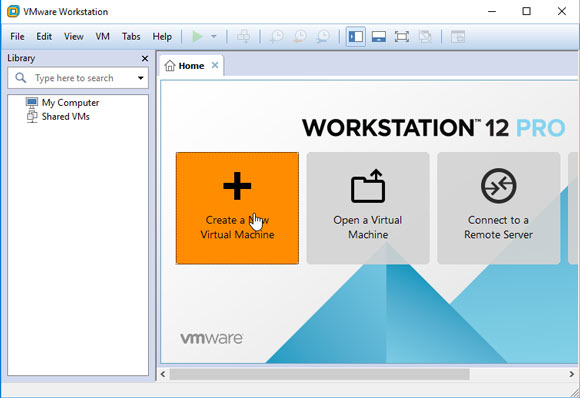 VMware Workstation 14 Create Virtual Machine from ISO - New VM