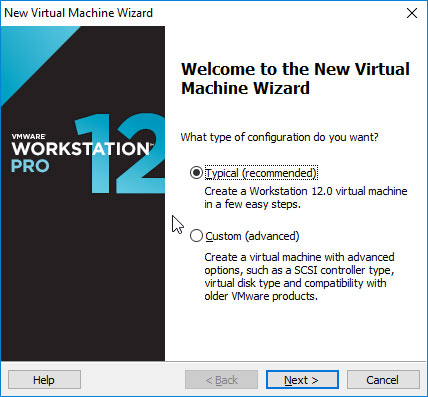 VMware Workstation 12 Create Virtual Machine from ISO - VM Typical SetUp
