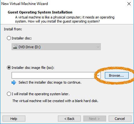 VMware Workstation 12 Create Virtual Machine from ISO - Load Ubuntu 16.04 Xenial ISO