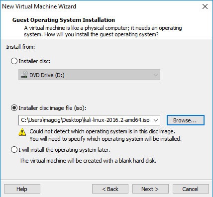 VMware Workstation 14 Create Virtual Machine from ISO - Creating