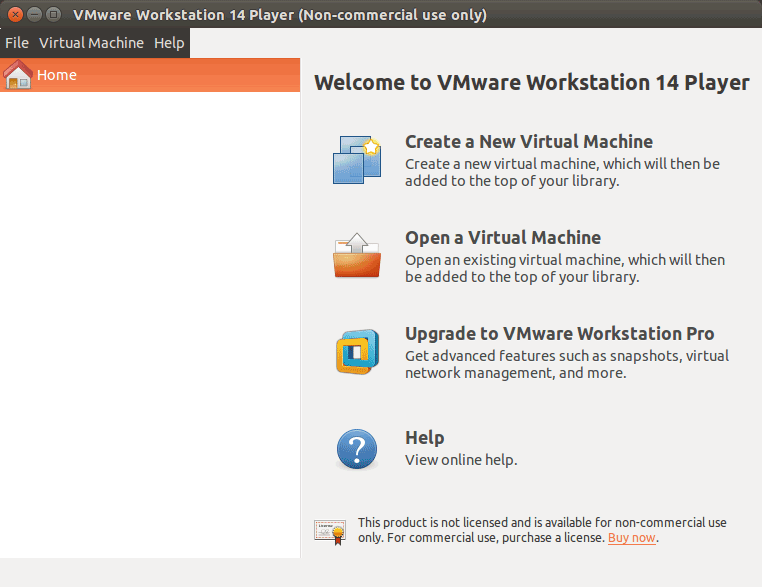 How to Install VMware Workstation 14 Player on openSUSE - VMware Workstation Player 14 GUI