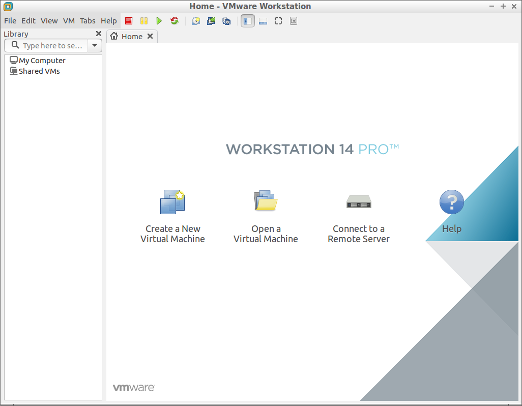 How to Install VMware Workstation 14 Pro on Debian - VMware Workstation Pro 14 GUI