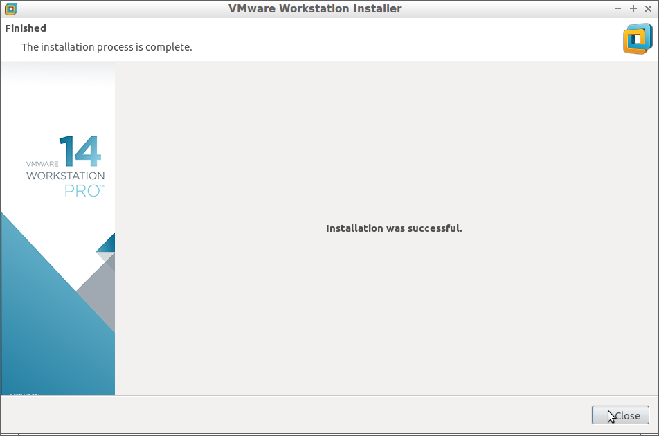How to Install VMware Workstation 14 Pro on Debian - Success