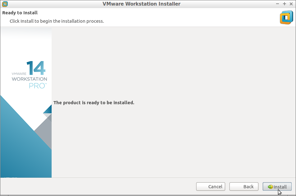 How to Install VMware Workstation 14 Pro on Debian - Start Installation