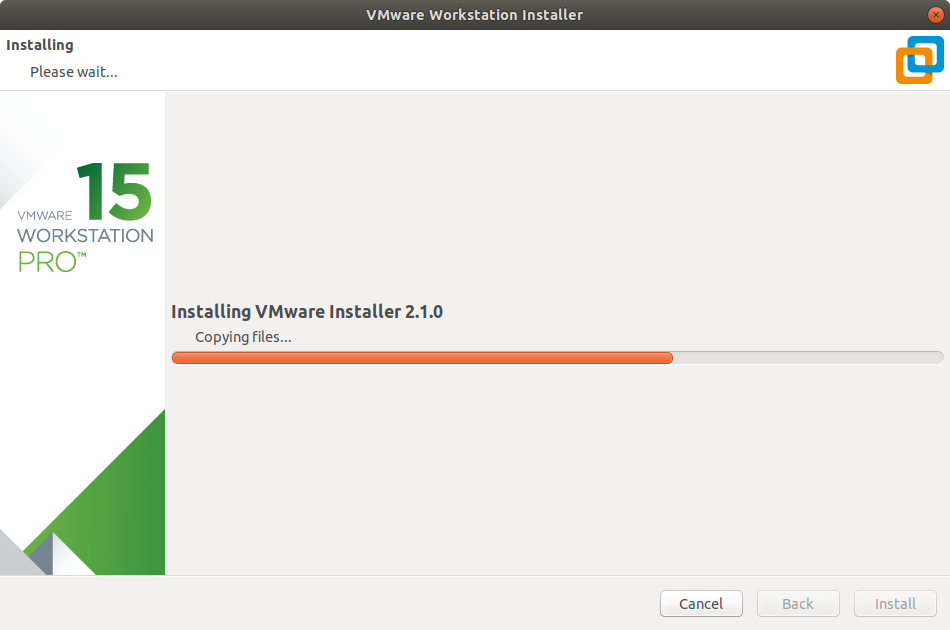 Manjaro Linux Install VMware Workstation 15 Pro - Start Installation