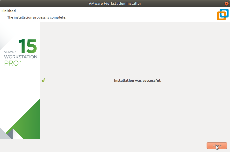 Manjaro Linux Install VMware Workstation 15 Pro - Success