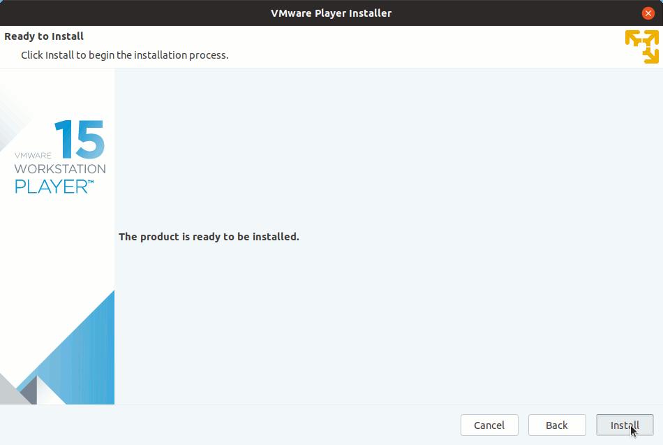 LXLE Linux Install VMware Workstation 15 Player - Start Installation