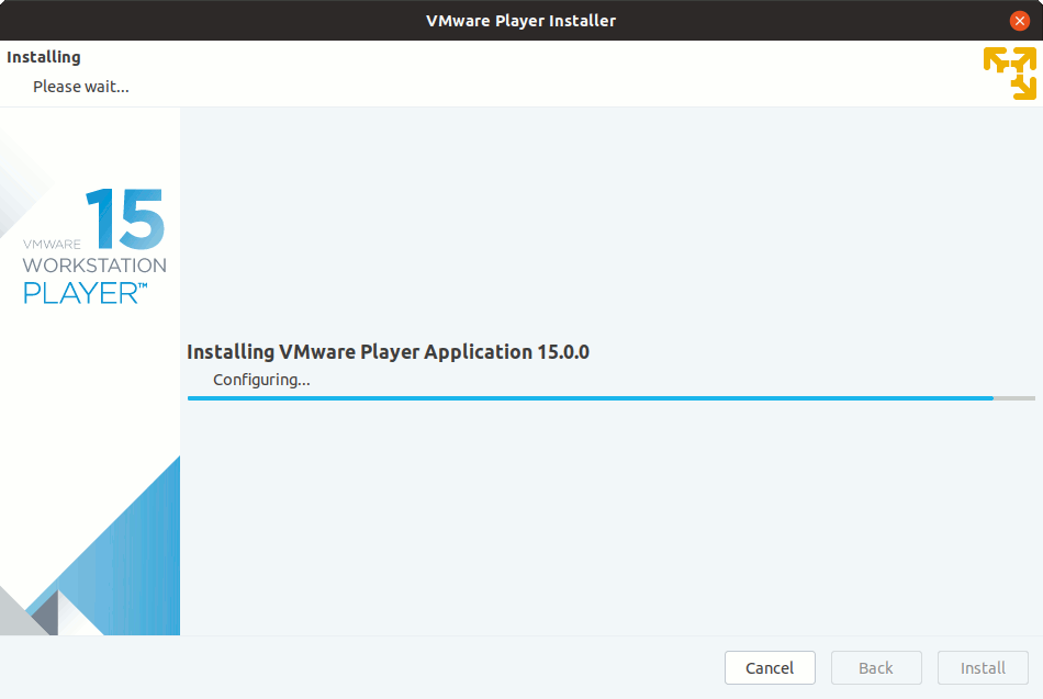 Archman Linux Install VMware Workstation 15 Player - Installing