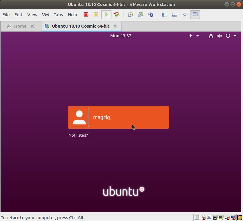 How to Install Ubuntu 18.04 Bionic Alongside Windows 10 - Ubuntu Linux 18.04 Bionic LTS Desktop Login