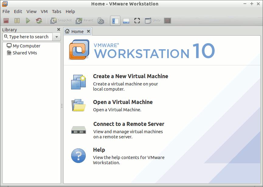 Install VMware Workstation 10 on Debian Jessie 8 - VMware Workstation 10 GUI