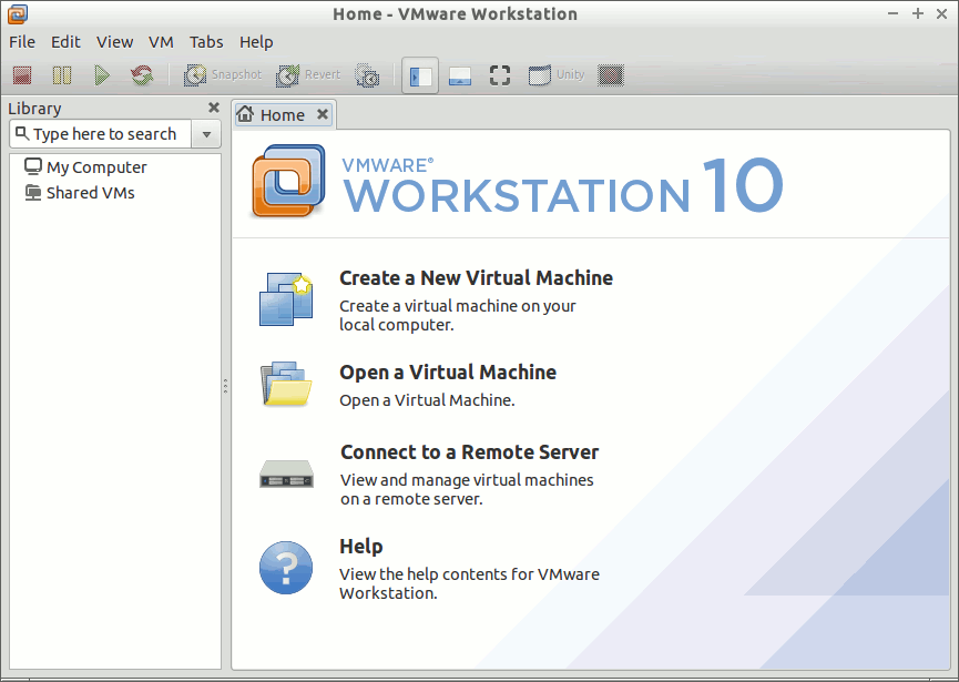 Install VMware Workstation 10 on Debian Stretch 9 - VMware Workstation 10 GUI