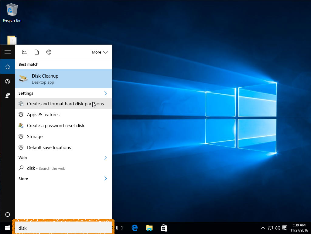 Windows 10 Resize / Shrink Partition Easy Visual Guide - Search with Cortana