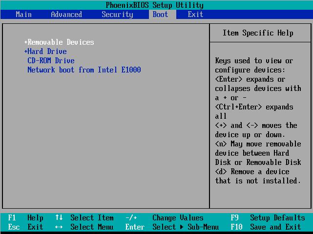 Boot Windows 7 from CD/DVD Media - Boot Tab