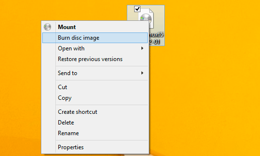 Windows 8 Burn Linux/Unix ISO to CD/DVD - Burn ISO Disk Image