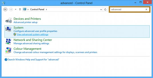 Windows 8 Advanced Settings