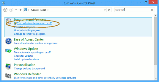 Enable IIS 8 with CGI for PHP on Windows 8 - Turn Windows Features On-Off