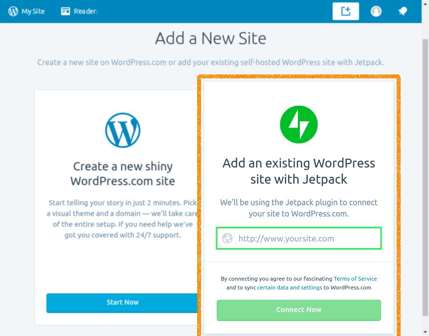 Linux WordPress Desktop App Add Self Hosted Blog - Add Existing WordPress Site with JetPack