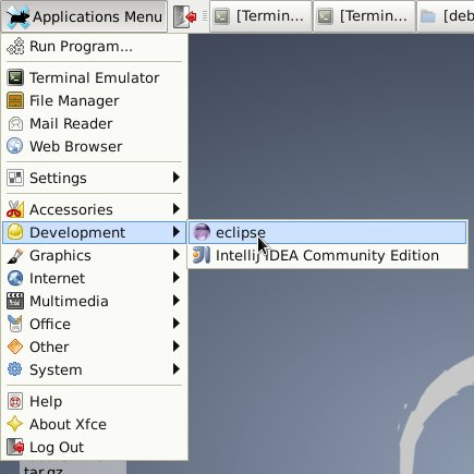 Install Eclipse for Java Developers on Fedora 18 Xfce - Xfce Eclipse Launcher