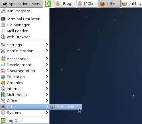 Xfce Launcher Inserted into Applications Menu